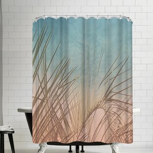 The Gingham Owl Pastel Palm Shower Curtain