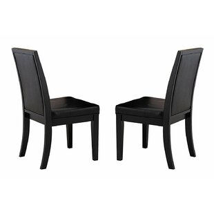 Javen Wooden Upholstered Dining Chair (Set of 2) by Red Barrel Studio
