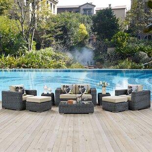 Brayden Studio Keiran 8 Piece Sunbrella Sofa Set with Cushions