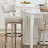 Malibu Swivel Upholstered Counter Stool by Barclay Butera