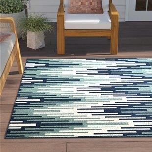 Amora Hand-Woven Blue Indoor/Outdoor Area Rug