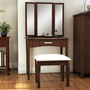 Andover Mills Longfellow Vanity Set with Mirror