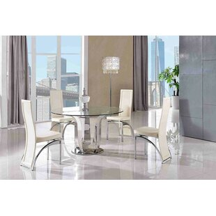 Eliscar Kitchen Dining Set With 4 Chairs By Wade Logan