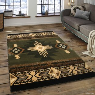 Iberide High Quality Woven Native American Runner Double Shot Drop Sch Carving Sage Green Area Rug