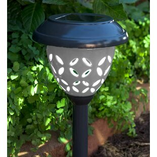 Plow & Hearth Ceramic Solar 2 Light Pathway Light (Set of 2)