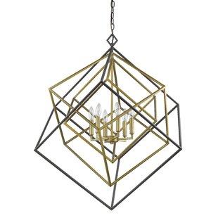 Pederson 6-Light Geometric Chandelier