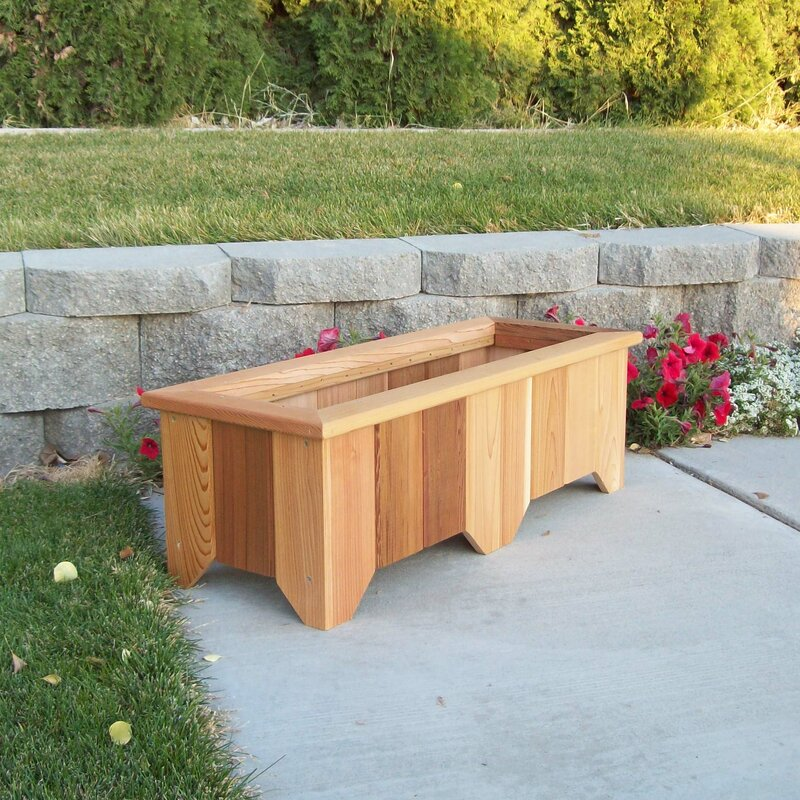 Woodcountry Cedar Planter Box Reviews Wayfair