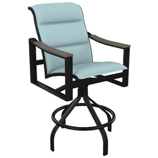 Brazo Padded Sling Swivel Patio Bar Stool