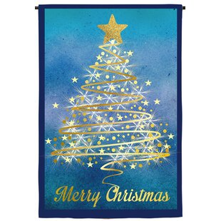 christmas tree suede garden flag