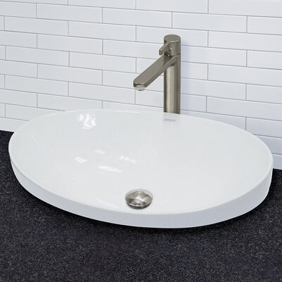 Bathroom Sinks Above Counter decolav vitreous china above counter or semi-recessed lavatory