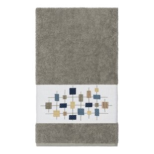 Hayek Embellished Turkish Cotton Bath Towel