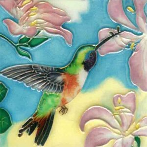 Hummingbird #5 Tile Wall Decor