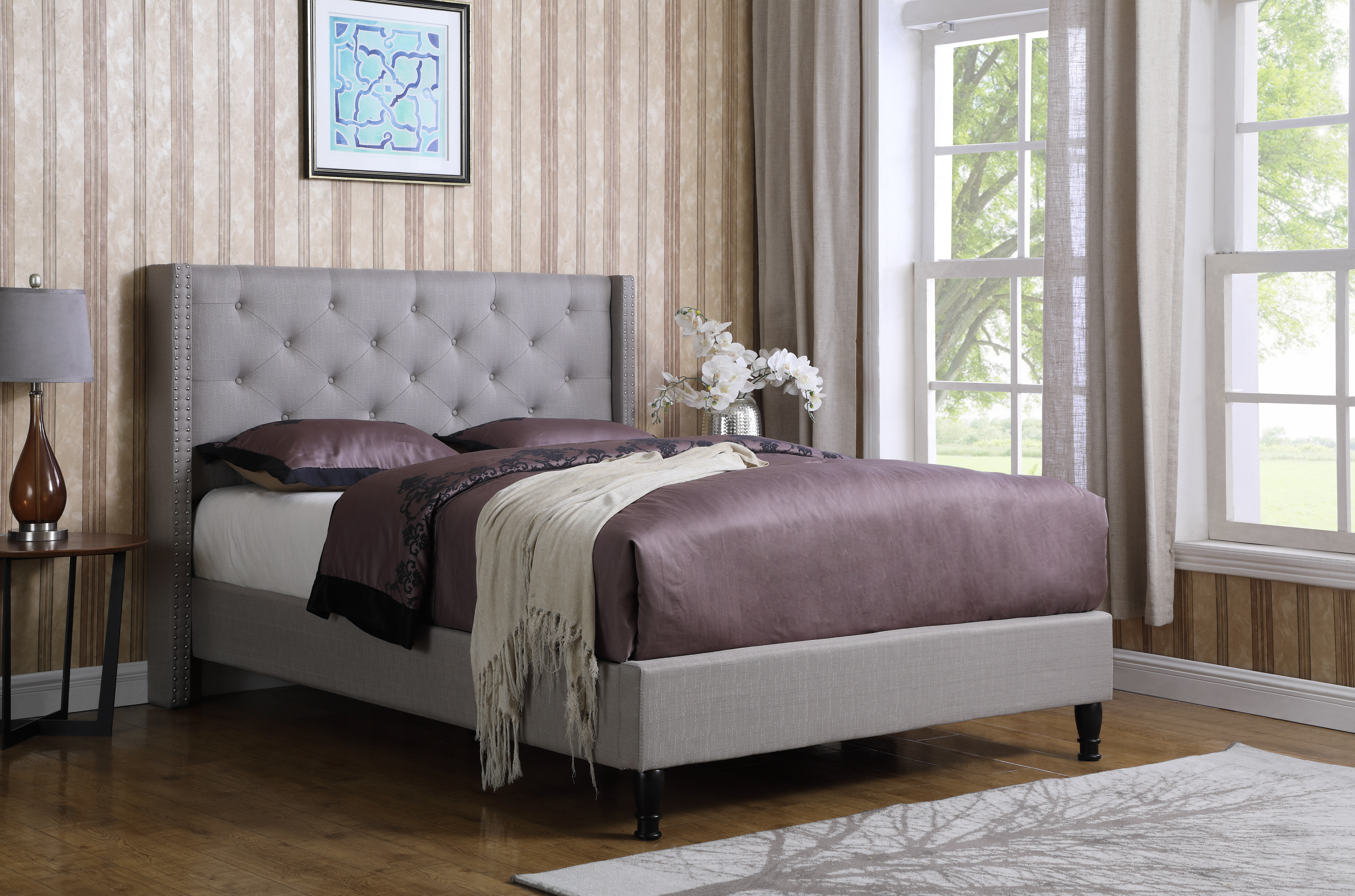 Picture of: Mercer41 Boswell Upholstered Low Profile Platform Bed Reviews Wayfair