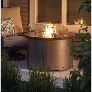 Edison Aluminum Propane Fire Pit Table