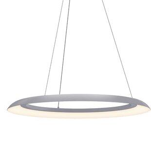 Torus? 1-Light LED Geometric Chandiler by Sonneman
