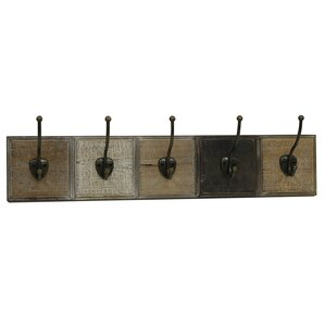 Ophelia Co Dawnette Wooden Wall Mounted Coat Rack