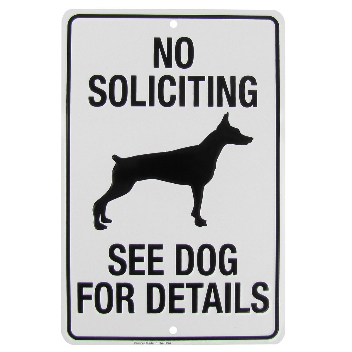 Picture of: Treasure Gurus No Soliciting See Dog For Details Metal Sign Funny Yard Fence Home Decor Reviews Wayfair