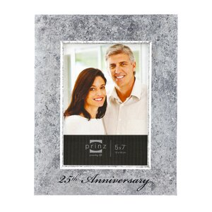 Happily Ever After '25th Anniversary' Wood Picture Frame