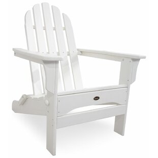 Trex Outdoor Trex Wood Folding Adirondack Chair with Ottoman