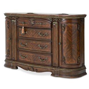 Bella Veneto 6 Drawer Dresser With Mirror