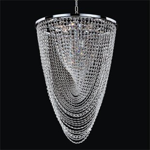 Glow Lighting Fuzion X 9-Light Crystal Chandelier