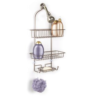 Rebrilliant Everett Over the Shower 2 Tier Deluxe Shower Caddy with Soap Dish