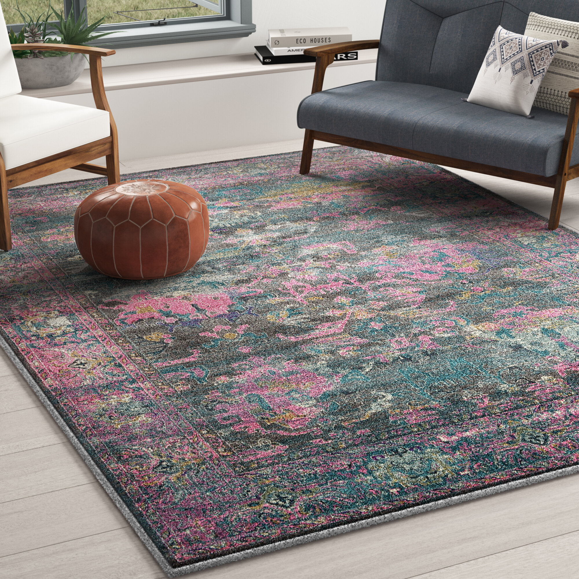 Mistana Charlena Abstract Power Loom Pink Gray Rug Reviews Wayfair