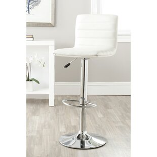 Rachele Adjustable Height Swivel Bar Stool by Orren Ellis Coupont