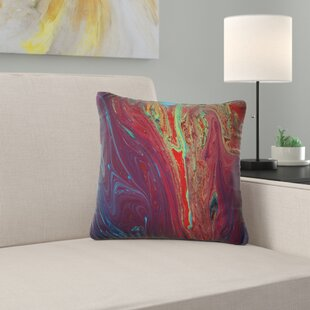Abstract Acrylic Paint Mix Abstract Pillow