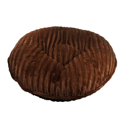 """Bagel Mink Dog Bed Baylee Nasco Size: Extra Small - 24"""" L X 24"""" W, Color: Chocolate Mink"""