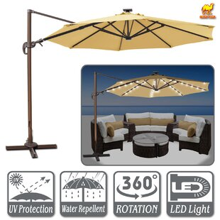 Fiorentino Hanging Solar Powered 11.5' Cantilever Umbrella
