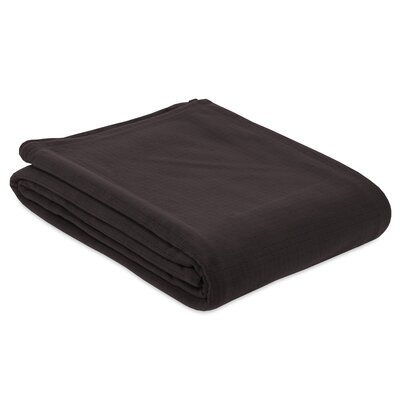 Polartec® Grid Fleece Blanket Berkshire Blanket Size: King, Color: Molten Coal