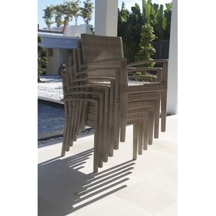 Hicklin Stacking Patio Dining Chair with Cushion