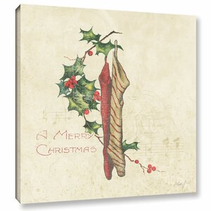 'Holiday Stockings' Graphic Art on Wrapped Canvas