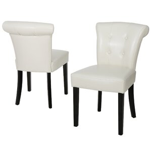 Collinson Genuine Leather Upholstered Dining Chair (Set of 2) by Darby Home Co