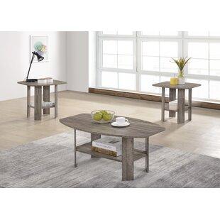 Highland Dunes Hillen 3 Piece Coffee Table Set