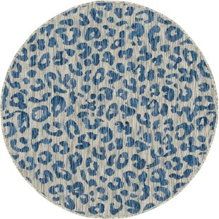 Munk Blue/Gray Indoor/Outdoor Area Rug by House of Hampton