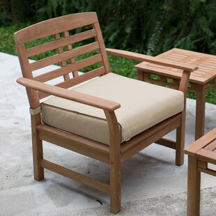 Great choice Calila Teak Patio Chair with Cushions (Set of 2) By Birch Lane™