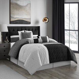 Higginbottom Gray Microfiber 7 Piece Comforter Set