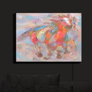 Brayden Studio Red Runner Horses' Print on Fabric