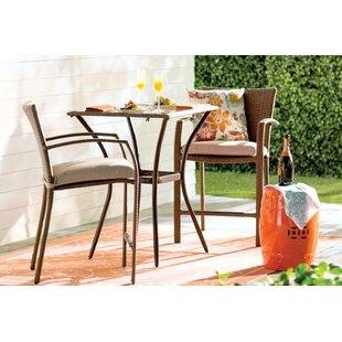 Highland Dunes Edwards 3 Piece Bistro Set