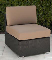 Trijaya Living Wicker Armless Chair with Cushion