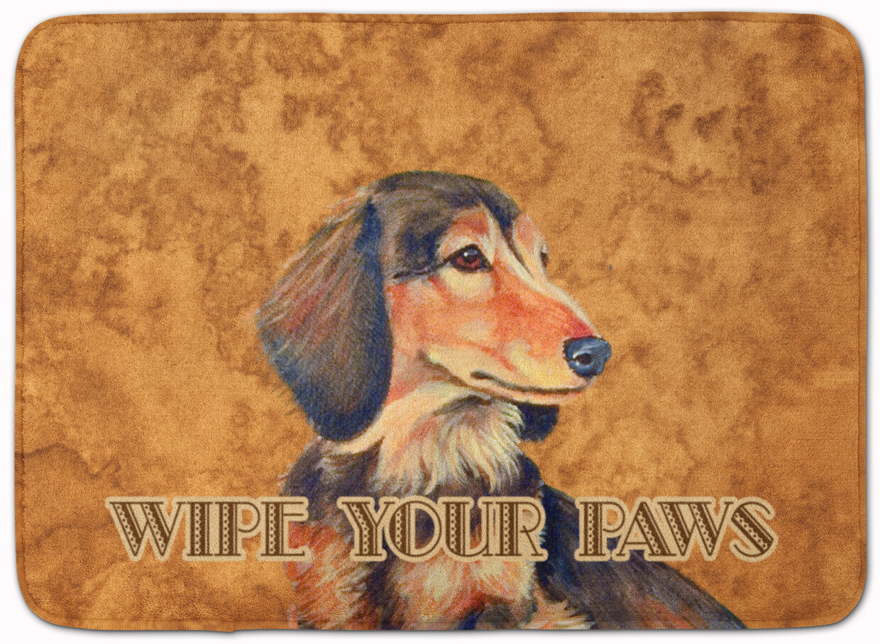 Red Barrel Studio Kimbolton Long Hair Dachshund Rectangle Microfiber Non Slip Bath Rug Wayfair