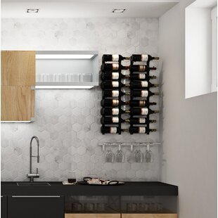 VintageView Wall Series Contemporary Wet Bar 18 Bottle Wall Mounted Wine Rack