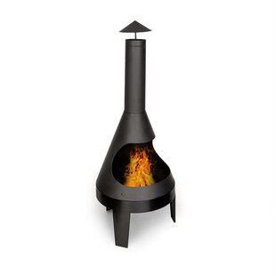 Hidalgo Steel Charcoal And Wood Burning Chiminea By Blumfeldt