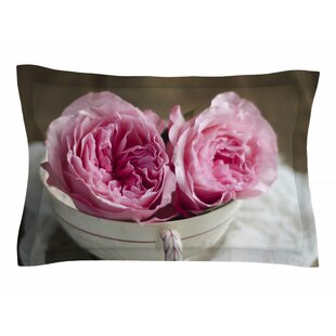 Cristina Mitchell 'Roses in a Tea Cup' Floral Photography Sham