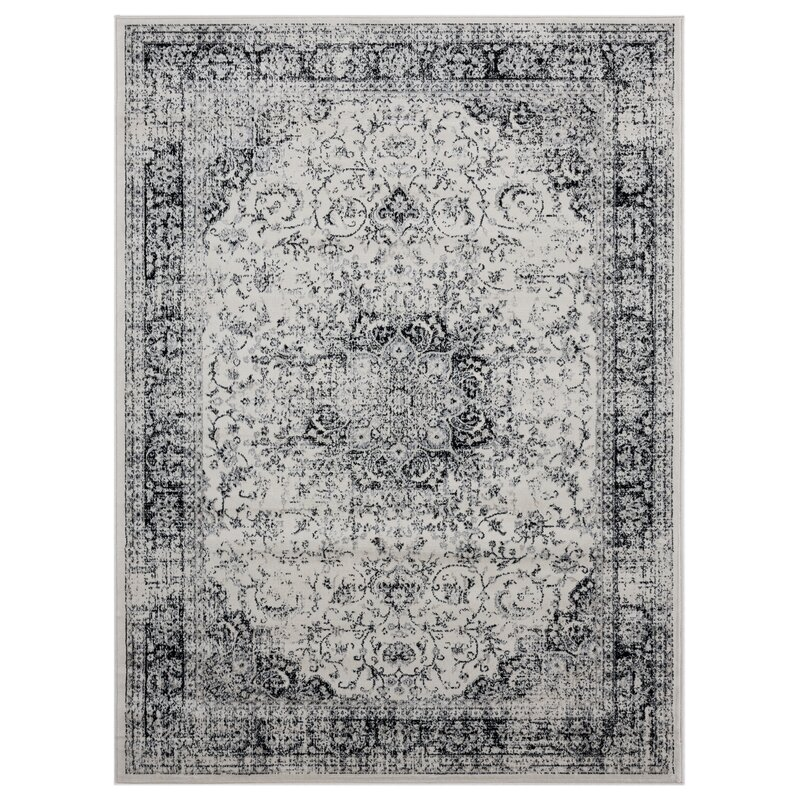 0be6b5ae20bb Charlton Home Olander Onyx Ivory Area Rug | Wayfair