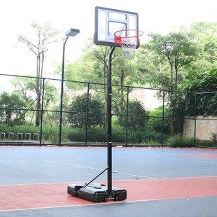 Wallfire Height Adjustable Basketball Stand System Durable Backboard Hoop Net Set Toy Gift for Children Kids