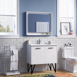 Almaraz 36 Single Bathroom Vanity Set with Mirror