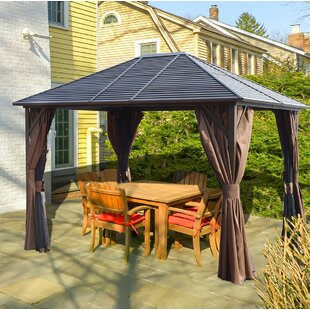 Caesar 10 Ft W X 12 D Aluminum Patio Gazebo